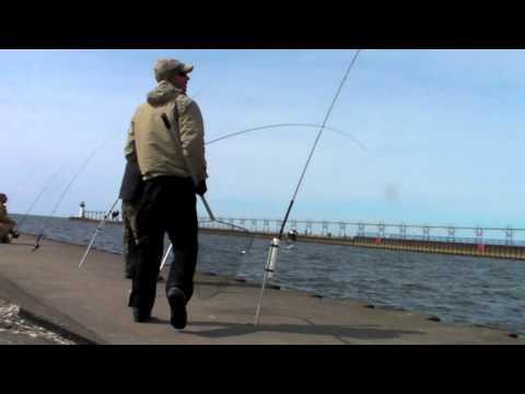 Lake Michigan Pier Fishing
