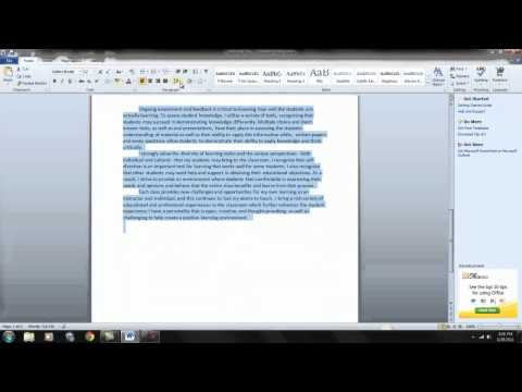 How to Format a Word Document 1 You Tube