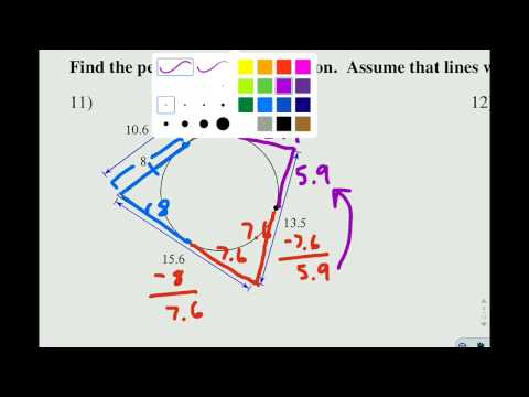 Circles 2B perimeter of circumscribed polygons