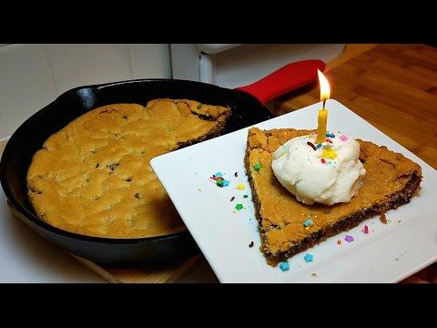 Egg Free Chocolate Chip Cookie Recipe -Skillet Birthday Cookie Cake Idea