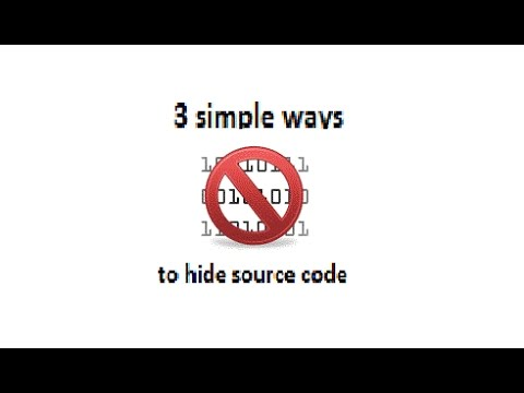 Coding - 3 EASY ways to hide source code