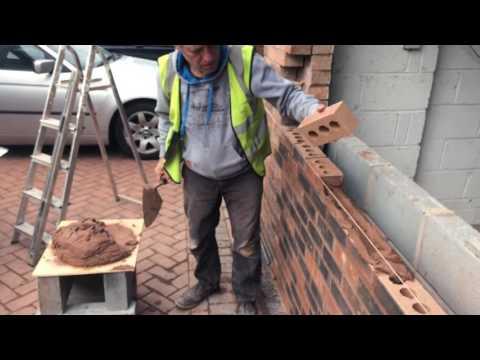 How to Brick up a garage door