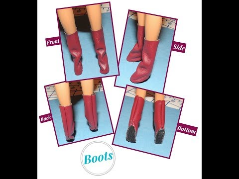 How to Make  - DIY:  Barbie Boots {6 EASY Steps}