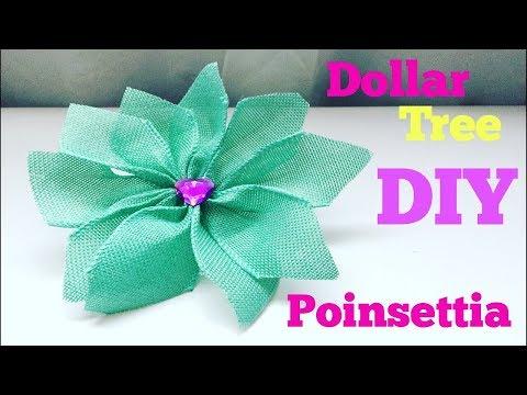 Dollar tree DIY/ poinsettia ribbon