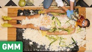 Human Sushi Roll Challenge