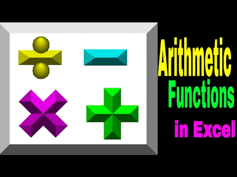 Arithmetic Functions In Excel Basic Calculations Part 2 Telugu