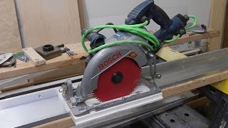 How to make Aluminum Guide Rail for your Circular Saw. Направляющая шина.
