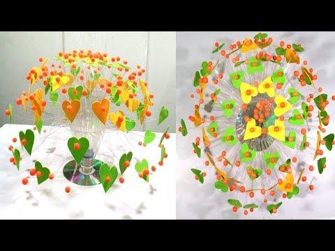 Easy Empty Plastic Bottle Vase Making Craft, Water Bottle Recycle Flower Vase Art New