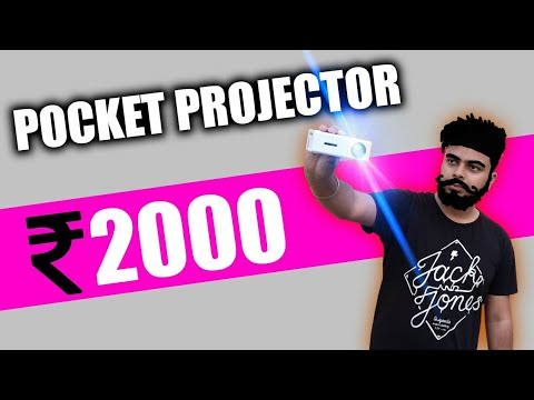 Smallest Pocket Size LED Projector !! Only rs2000😱