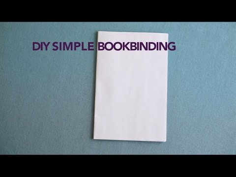 DIY Simple Bookbinding For Soft Covers