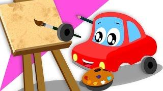 Little Red Car Rhymes   Lets Bulid Car   Songs & Rhymes For Kids