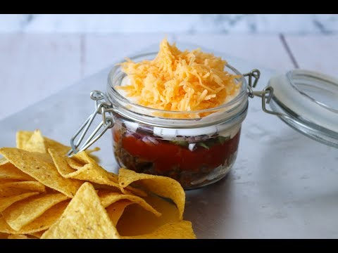How To Make Taco Dip - Easy Layered Dip - By One Kitchen