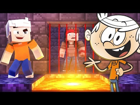 99% IMPOSSIBLE TO ESCAPE THE LOUD HOUSE PRISON IN MINECRAFT TROLL + ROLEPLAY!!!