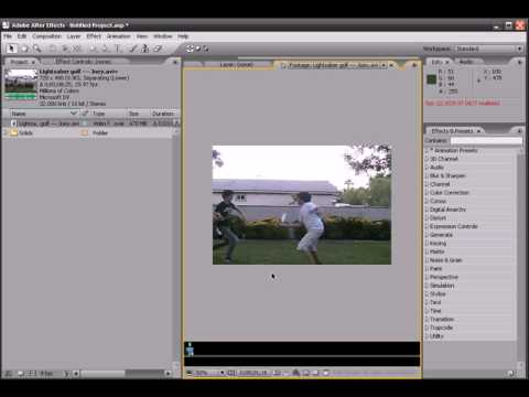 Adobe After Effects Tutorial 1(Part 1)
