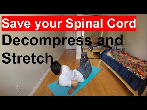 How to Spinal Cord Stretch and Strengthen Back Muscle (Pain Relief)