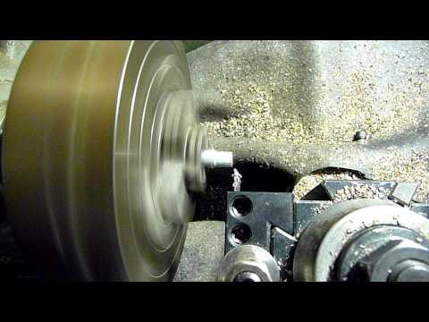 CNC lathe cutting profile for threaded rod end