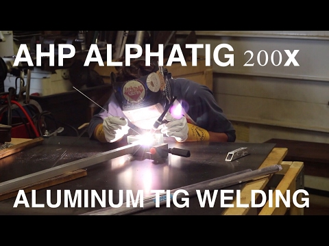 TIG Welding Aluminum with the AHP Alphatig 200x