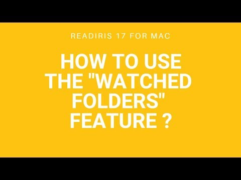 Readiris 17 Mac: Watched folders