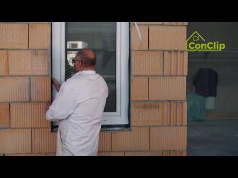 ConClip 2 EN – Airtightness: Window Installation in Exterior Brick Wall with Insulation