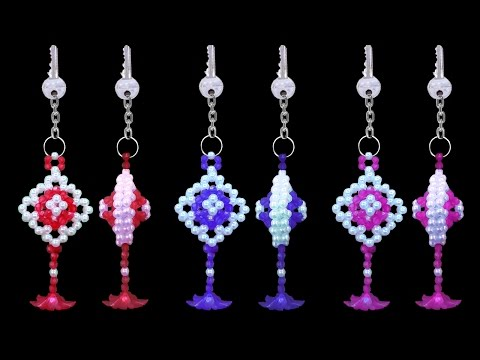 How To Make A Crystal Beads Keychain At Home || DIY Beaded Key chains || You Can Do This