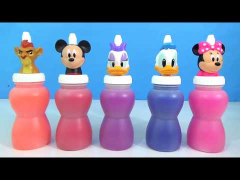 Slime Toy Surprises with Lion Guard, Minnie & Mickey Mouse