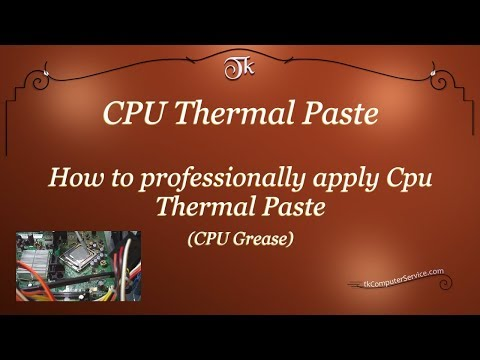 How to professionally apply CPU Thermal Paste (CPU Thermal Grease)
