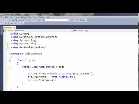 How to Open Web Browser URL Link from C# Console Application
