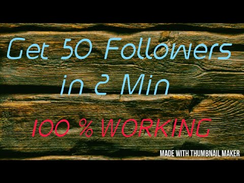 100% Working | How To Get Instagram 50 Followers in 2 minutes