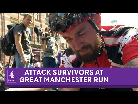 Manchester attack: Tributes at Great Manchester Run almost one year on