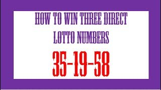 How To Win Lotto From Moving Numbers 83 65 70 14 - PakVim net HD