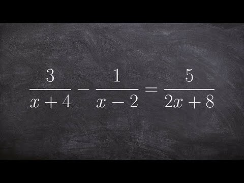 Find all the solutions of a rational equation and check your solution