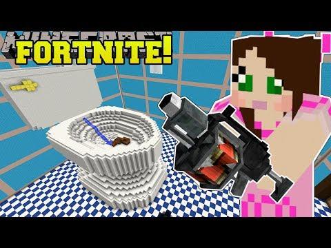 Minecraft: GIANT TOILET - FORTNITE BATTLE ROYALE - Modded Mini-Game