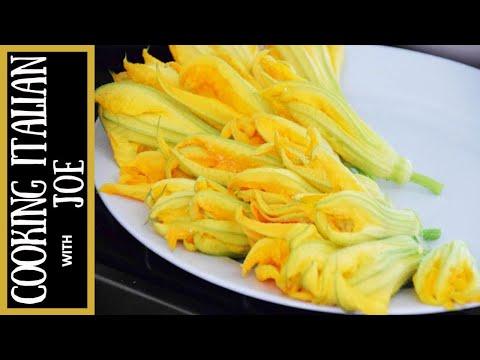 Fried Stuffed Zucchini Flowers Cooking Italian with Joe