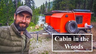 Camping - Mobile Cabin in the Woods ( Drifter Trailers )