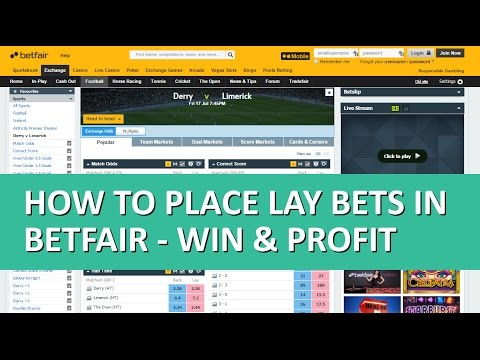 How to place lay bets in Betfair - WIN & PROFIT