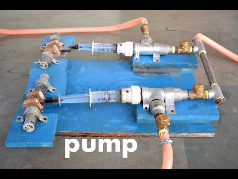 How to Make Powerful Reciprocating Water Pump / Compressor  - at Home Easy way