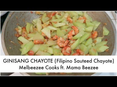 GINISANG CHAYOTE (Filipino Sauteed Chayote) | Melbeezee Cooks ft. Mama Beezee