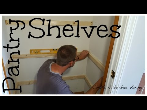 Simple Pantry Shelving