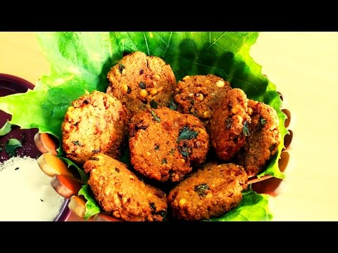 chana dal vada recipe andhra style - chana dal ka vada - Very Easy Steps (Snacks Center)