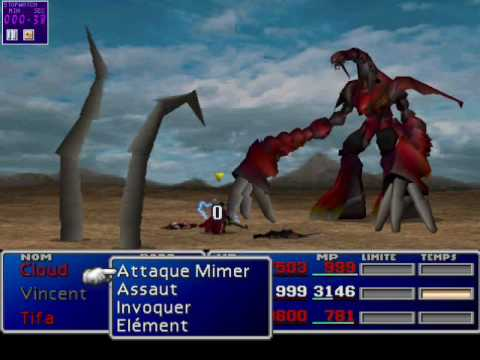 FF7: Ruby Weapon the Fastest (50 seconds) Solo Character, No Controller, using Mug glitch