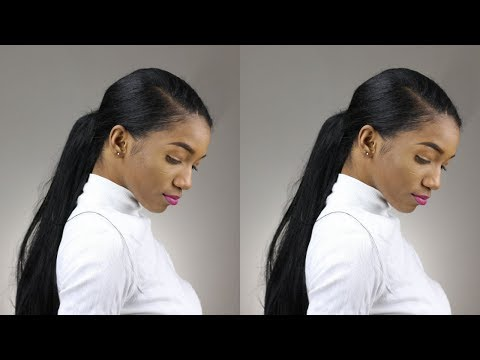 HOW TO: Long Ponytail on Short Hair with Fake Hair (Extensions) |Annesha Adams