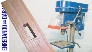 How to cut a mortise with the drill press