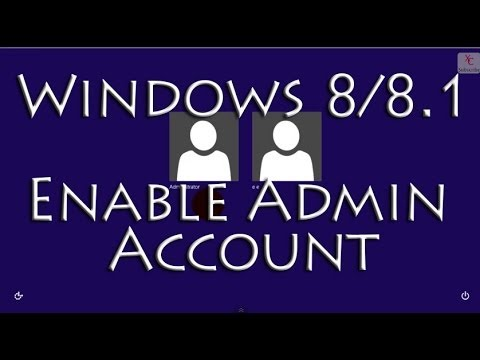 Enable the Built in Administrator Account in Windows 8 / 8.1