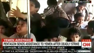 "Pentagon To ""HELP INVESTIGATE"" Saudi Airstrike On School Bus That Killed 40 Children"