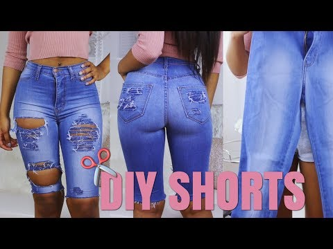 DIY Shorts From Jeans | How To Re-vamp Old Clothes! (Simple No Sew)