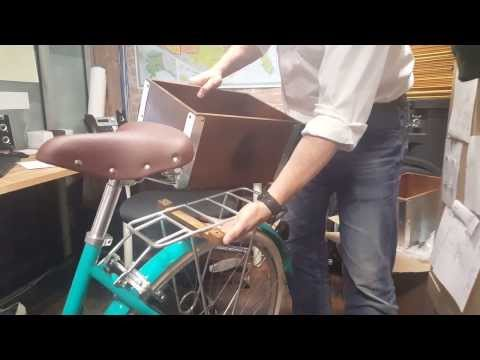 Brooklyn Bicycle Co. Wooden Rear Crate Installation