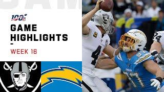 Raiders vs. Chargers Week 16 Highlights   NFL 2019
