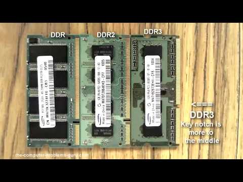 Difference between DDR, DDR2, DDR3 laptop RAM