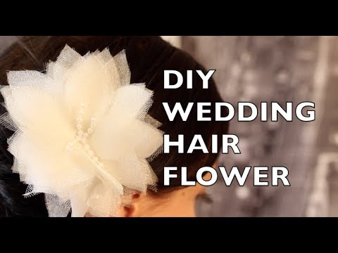 How To Make A Wedding Hair Flower Using Organza & Tulle