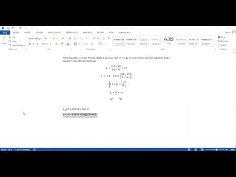 writing equations and fractions without insert equation MS Word